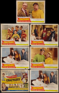 """Crazylegs (Republic, 1953). Title Lobby Card and Lobby Cards (6) (11"""" X 14""""). Sports. ... (Total: 7 Items)"""