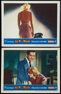 "Movie Posters:Hitchcock, Dial M for Murder (Warner Brothers, 1954). Lobby Cards (2) (11"" X14""). Hitchcock.. ... (Total: 2 Items)"