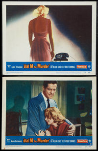 """Dial M for Murder (Warner Brothers, 1954). Lobby Cards (2) (11"""" X 14""""). Hitchcock. ... (Total: 2 Items)"""