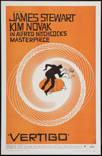 "Vertigo (Paramount, 1958). One Sheet (27"" X 41.5""). Hitchcock"