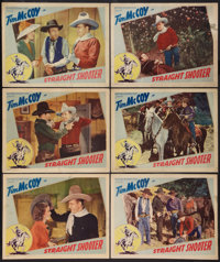 """Straight Shooter (Victory, 1939). Lobby Cards (6) (11"""" X 14""""). Western. ... (Total: 6 Items)"""