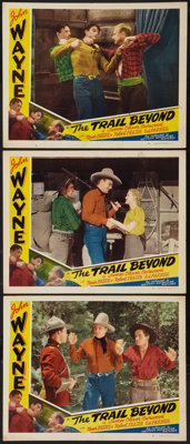 "The Trail Beyond (Western Adventure Pictures, R-1930s). Lobby Cards (3)(11"" X 14""). Western. ... (Total: 3 Ite..."