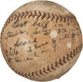 Autographs:Baseballs, 1926 Rube Walberg 18th Career Win Game Used With Inscription SignedBall....