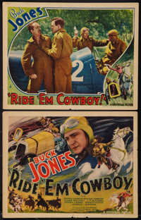 "Ride 'Em Cowboy (Universal, 1936). Title Lobby Card and Lobby Card (11"" X 14""). Western. ... (Total: 2 Items)"