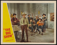 "The Big Show (Republic, early R-1940s). Autographed by Roy Rogers/Len Slye Lobby Card (11"" X 14""). Western..."