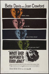 """Whatever Happened to Baby Jane? (Warner Brothers, 1962). One Sheet (27"""" X 41""""). Horror"""