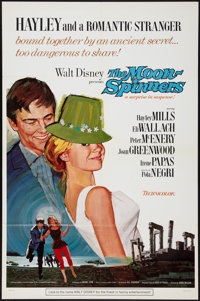 """The Moon-Spinners and Other Lot (Buena Vista, 1964). One Sheet (27"""" X 41"""") Style A, and Uncut Pressbook (12&qu..."""