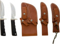 Edged Weapons:Knives, Pair of Randall Hunting Knives in Dual Sullivan Scabbard....