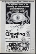 Movie Posters:Science Fiction, The Crawling Eye / Cosmic Monsters Combo (DCA, 1958). Uncut Pressbook (Multiple Pages). Science Fiction.. ...