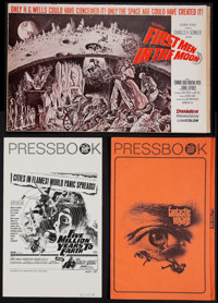 """First Men in the Moon and Others Lot (Columbia, 1964). Uncut Pressbooks (3) (Multiple Pages, 11"""" X 17"""" and 9&q..."""