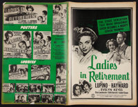 "Ida Lupino Lot (Warner Brothers & Columbia, 1941 & 1942). Pressbooks (2) (Multiple Pages, 12"" X 18..."