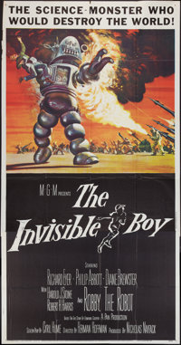"""The Invisible Boy (MGM, 1957). Three Sheet (41"""" X 81""""). Science Fiction"""