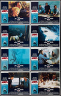 "Movie Posters:Horror, Jaws (Universal, 1975). Lobby Card Set of 8 (11"" X 14""). Horror..... (Total: 8 Items)"