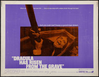 """Dracula Has Risen From the Grave (Warner Brothers, 1969). Half Sheet (22"""" X 28""""). Horror"""