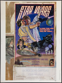 "Star Wars (20th Century Fox, 1977). Poster (30"" X 40"") Style D. Science Fiction"