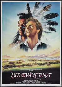 "Dances with Wolves (Constantin, 1991). German A1 (23.25 X 33""). Western"