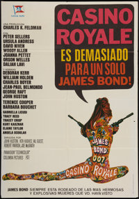 "Casino Royale (Columbia, 1967). Spanish One Sheet (27"" X 39""). James Bond"