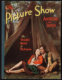 "Picture Show Annual for 1933 (Amalgamated Press Ltd., 1933). British Hardbound Annual (160 pages, 8.5"" X 11"")..."