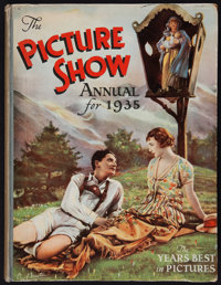 "Picture Show Annual for 1935 (Amalgamated Press Ltd., 1935) British Hardbound Annual (160 pages, 8.5"" X 11"") M..."