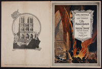 "The Hunchback of Notre Dame (Universal, 1923). Souvenir Program (20 Pages, 9"" X 12""). Horror"