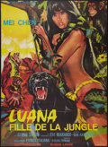 "Movie Posters:Adventure, Luana (Comptoir Francais Du Film, 1973). French Grande (47"" X 63"").Adventure.. ..."
