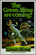 "Movie Posters:Science Fiction, The Green Slime (MGM, 1969). One Sheet (27"" X 41"") Advance. ScienceFiction.. ..."