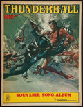 "Movie Posters:James Bond, Thunderball (United Artists, 1965). Souvenir Song Book. (32 Pages,8.5"" X 11"")James Bond.. ..."