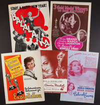 My Cousin Rachel and Others Lot (20th Century Fox, 1952). Pressbooks (5, One Partial) One With a Single Cut (Multiple Pa...
