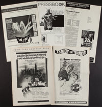 "The Haunting and Others Lot (MGM, 1963). Uncut Pressbooks (5) (Multiple Pages, 11"" X 17"", 12"" X 17""..."