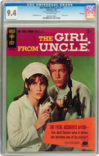 Girl From U.N.C.L.E. #1 File Copy (Gold Key, 1967) CGC NM 9.4 Off-white pages