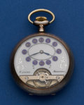 Timepieces:Pocket (post 1900), Hebdomas .800 Silver Exposed Balance 8-Day Pocket Watch. ...