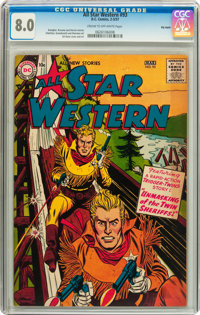 All Star Western #93 Big Apple pedigree (DC, 1957) CGC VF 8.0 Cream to off-white pages