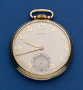 Timepieces:Pocket (post 1900), Hamilton 14k Gold Grade 917 Pocket Watch. ...