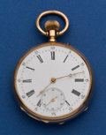 Timepieces:Pocket (pre 1900) , Swiss 18k Gold 46 mm High Grade Pocket Watch. ...