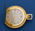 Timepieces:Pocket (post 1900), Movado 18k Gold Ultra-Thin Hunter's Case Pocket Watch. ...
