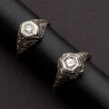 Estate Jewelry:Rings, Two Antique Diamond & Gold Rings. ... (Total: 2 Items)