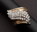 Estate Jewelry:Rings, Unusual Diamond & Gold Ring. ...