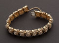 Estate Jewelry:Bracelets, Spectacular Diamond & Gold Bracelet. ...