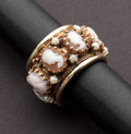 Estate Jewelry:Rings, Unique Cameo Gold Ring. ...