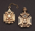 Estate Jewelry:Other , Two Masonic Watch Fobs. ... (Total: 2 Items)