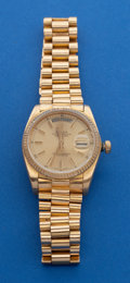 Timepieces:Wristwatch, Rolex Reference 1800 - 18k Gold President Wristwatch. ...