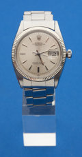 Timepieces:Wristwatch, Rolex Gents Steel Oyster Perpetual Date Just Wristwatch. ...