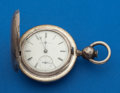 Timepieces:Pocket (pre 1900) , Elgin Massive 9 Oz. Coin Silver Hunter's Case With Early B.W.Raymond Key Wind Pocket Watch. ...