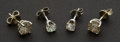Estate Jewelry:Earrings, Two Pair Of Diamond Studs. ... (Total: 2 Items)