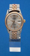 Timepieces:Wristwatch, Rolex Pink Gold & Steel Oyster Perpetual Date Just Wristwatch....