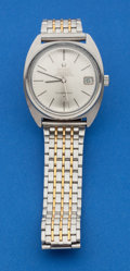 Timepieces:Wristwatch, Omega Stainless Steel Constellation With Date Wristwatch. ...
