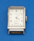 Timepieces:Wristwatch, Lord Elgin Platinum Rectangular Wristwatch. ...