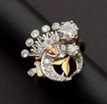 Estate Jewelry:Rings, Diamond, Platinum Topped Gold Ring. ...