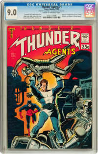 T.H.U.N.D.E.R. Agents #1 (Tower, 1965) CGC VF/NM 9.0 Cream to off-white pages
