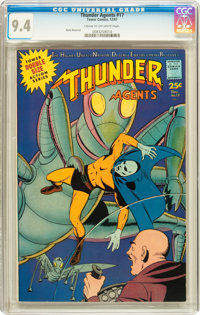 T.H.U.N.D.E.R. Agents #17 (Tower, 1967) CGC NM 9.4 Cream to off-white pages